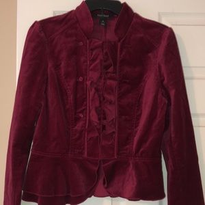 red velvety White House Black Market jacket
